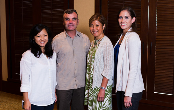 A group of four distance learning executive MBA - Health Care Management track students.