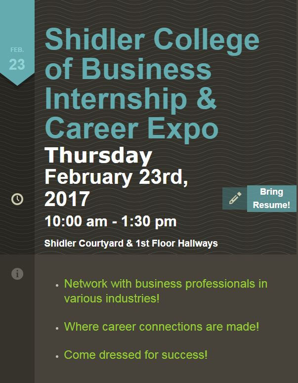 Shidler Internship and Career Expo