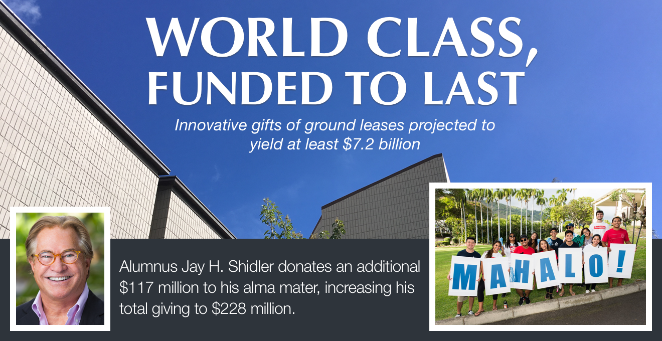 World Class, Funded to Last